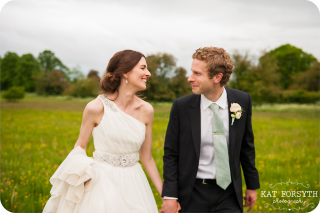 Yellow field Wormstall House Wedding