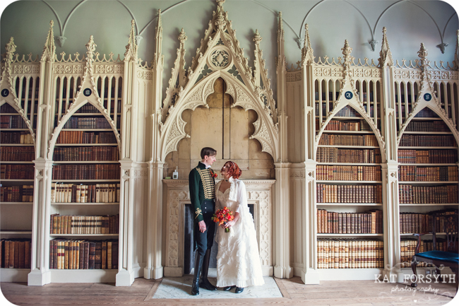 Victorian gothic wedding photo