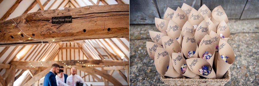 Confetti Cones Moreves Barn wedding