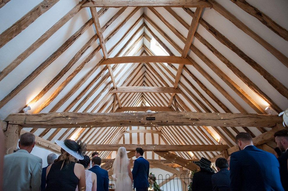 Moreves Barn wedding ceremony