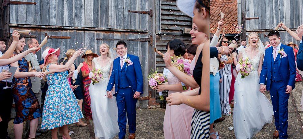 Confetti Moreves Barn Wedding Suffolk