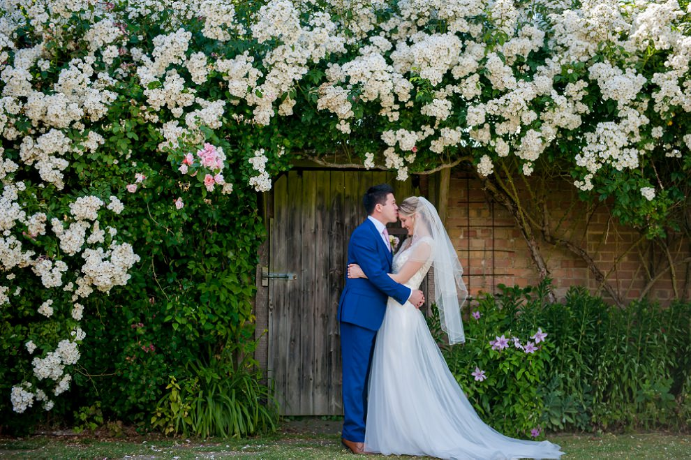 Moreves Barn wedding floral arch