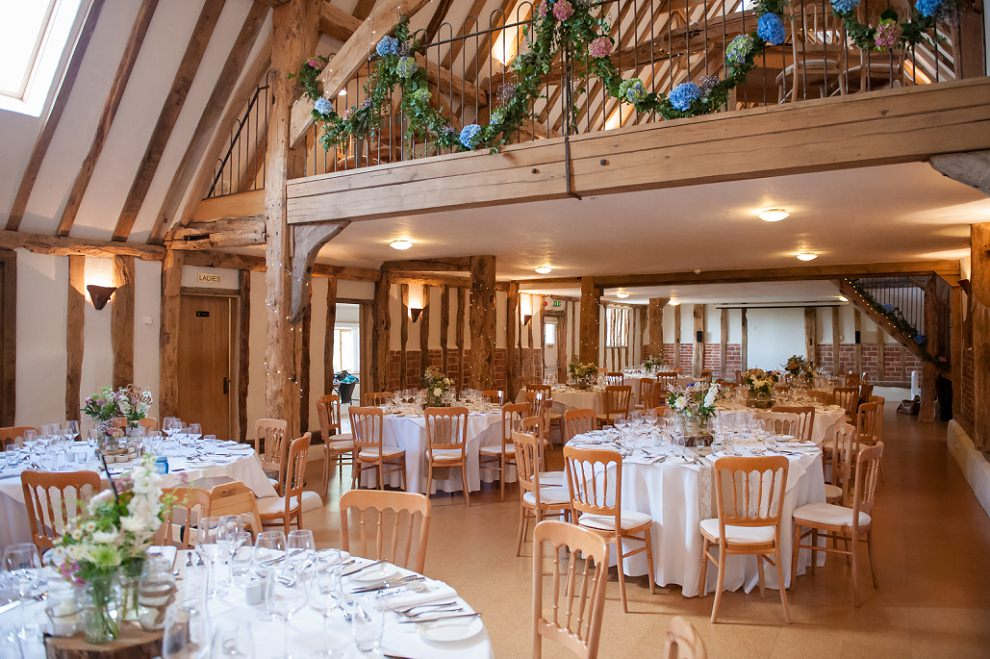 Moreves Barn wedding reception tables