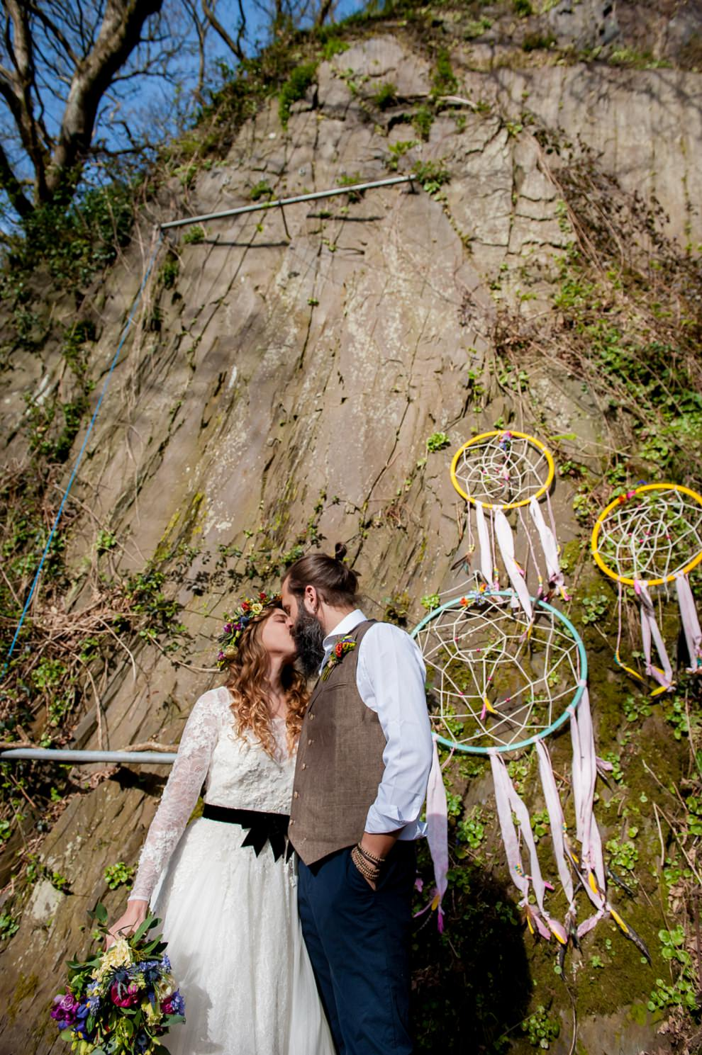Fforest Wedding in the quarry