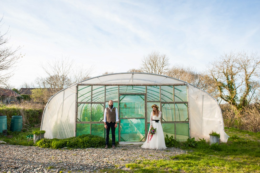Greenhouse at Fforest wedding