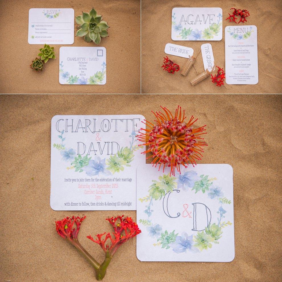 Desert wedding stationery