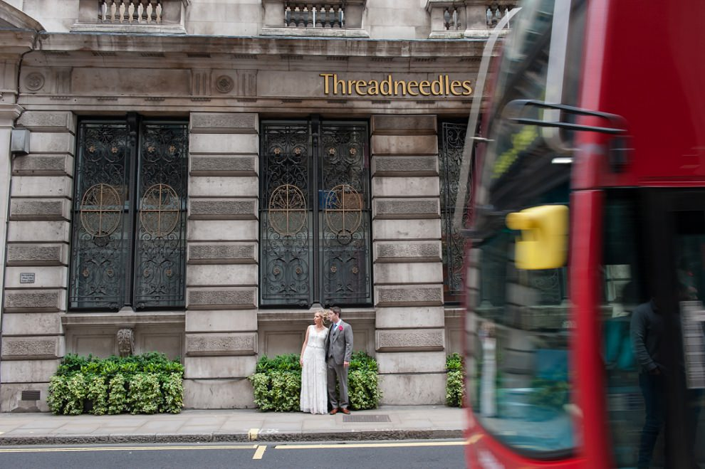 Wedding photos near Bank Leadenhall Market