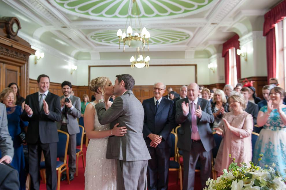 Registry office wedding Islington town hall