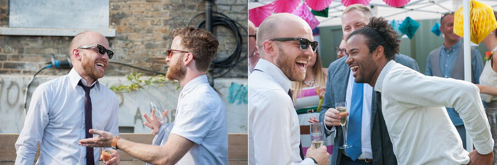 Fun wedding photography in South London