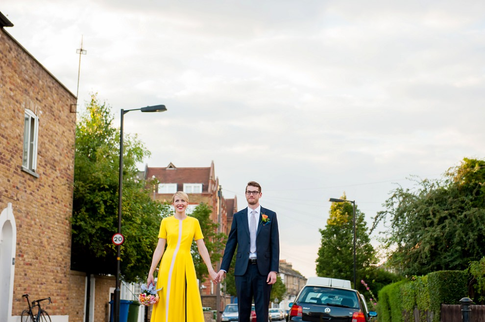 Wedding photographers South London street portraits