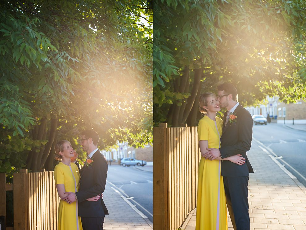 Sunset wedding photos London