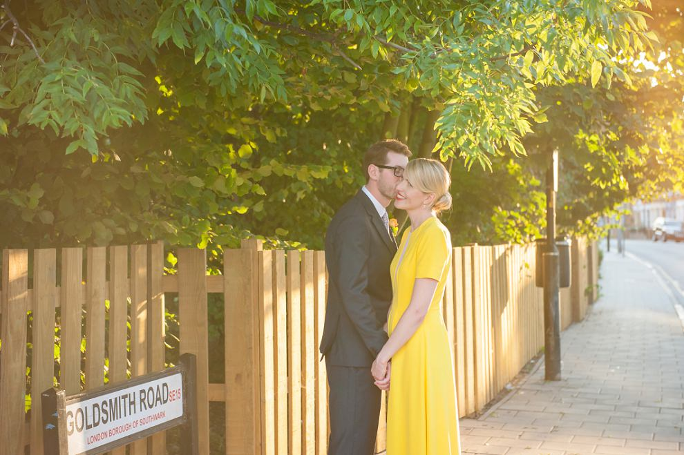 Bride yellow dress