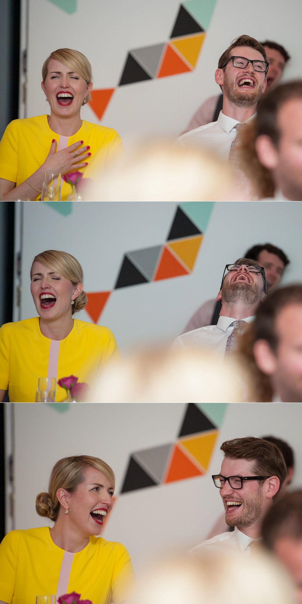 Peckham wedding photography bride groom laughing
