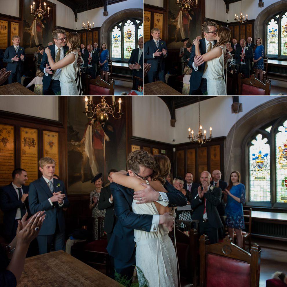 wedding first kiss - Natural wedding photography