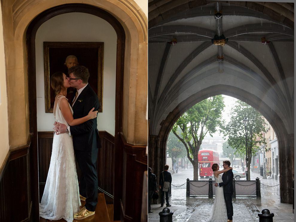 Rainy wedding London