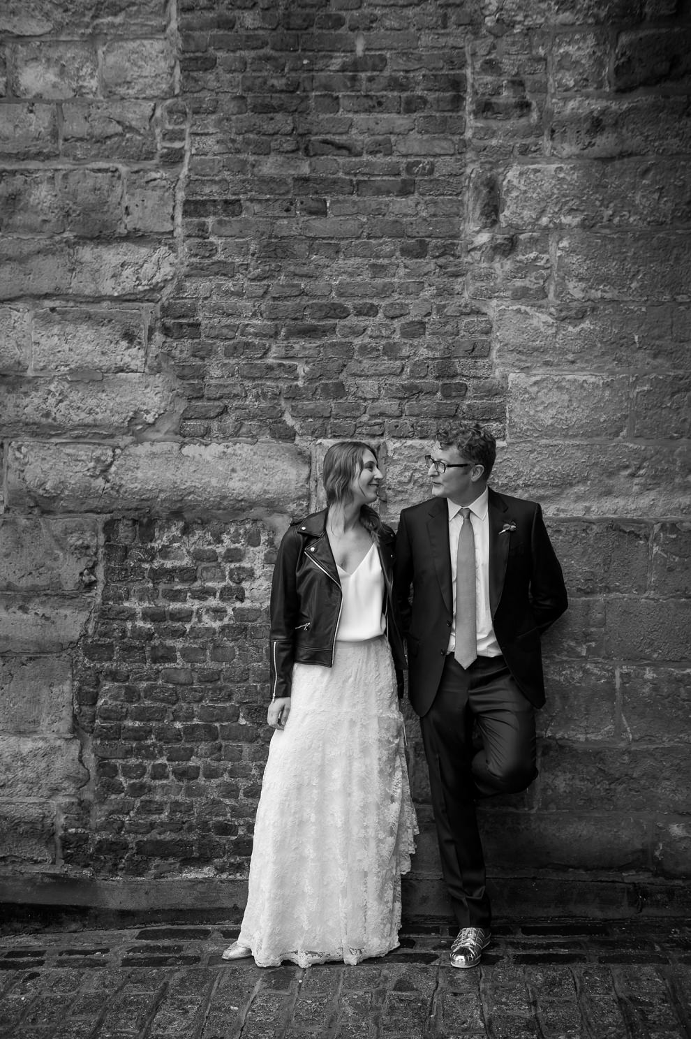 black & white wedding portrait classic London