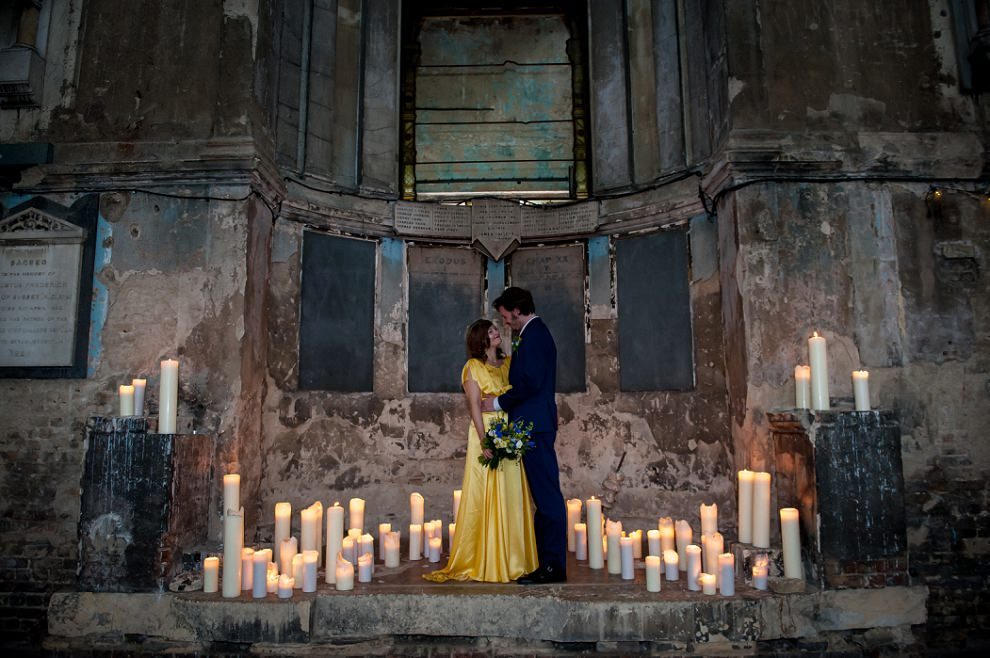 Asylum Peckham wedding Candles
