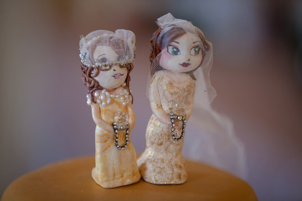 Personalised cake toppers two brides