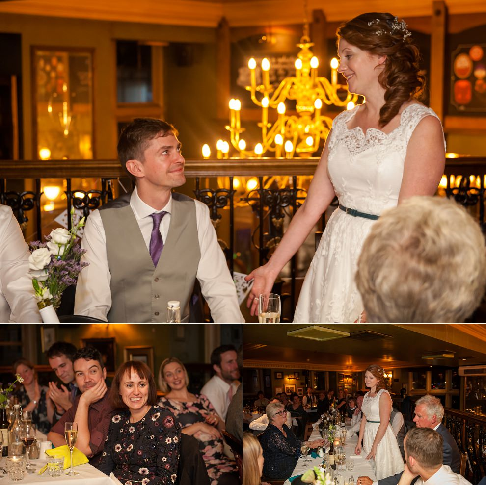 wedding speeches London pub wedding