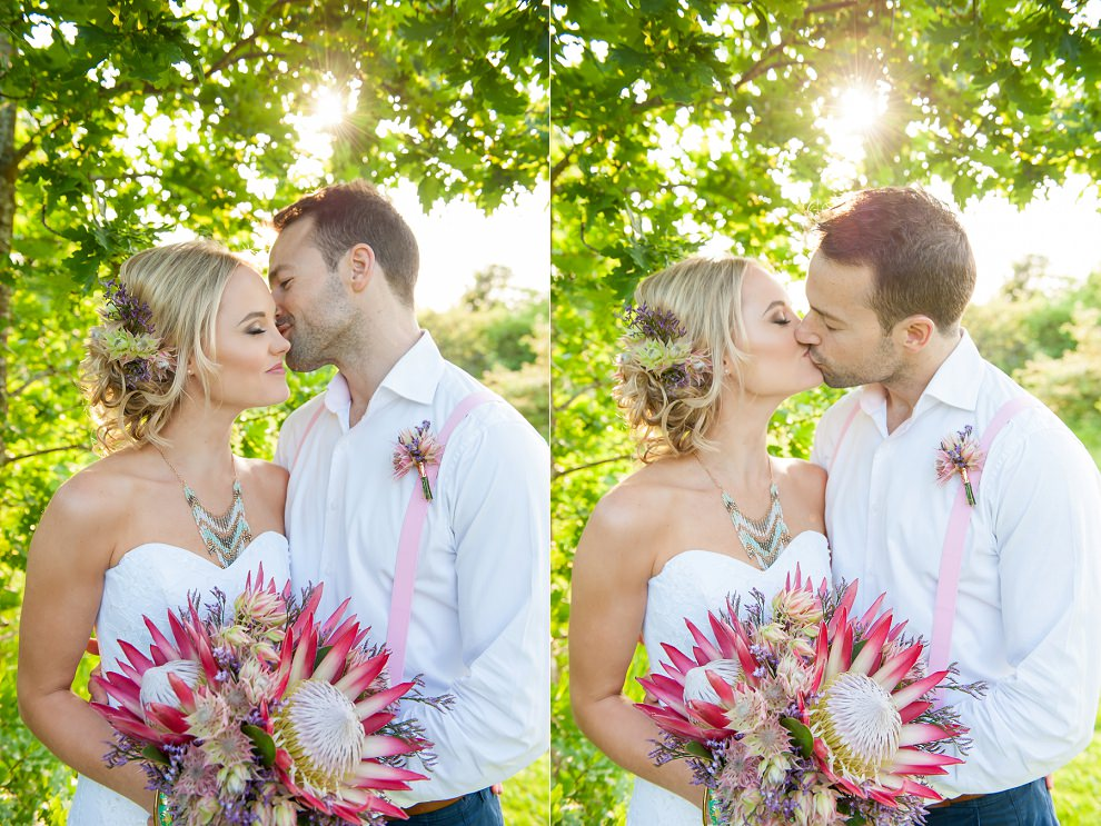 giant protea bouquet wedding