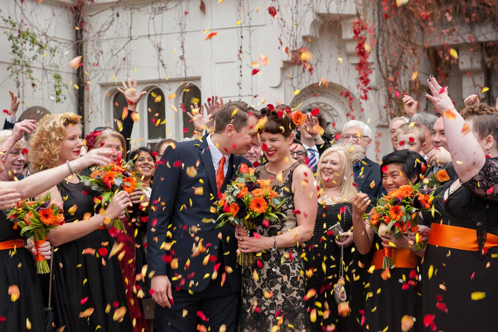 Halloween wedding confetti