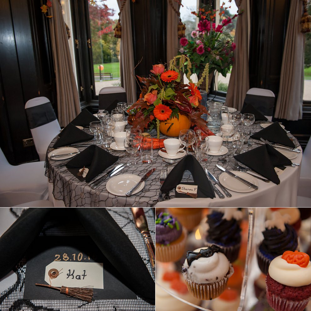 Halloween wedding table
