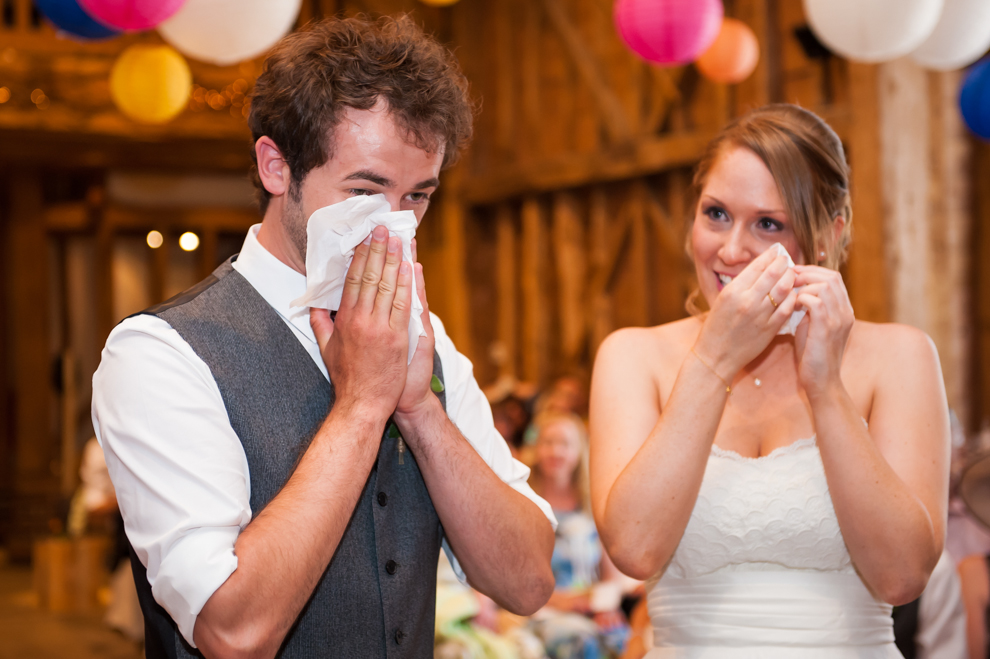 Wedding ceremony crying