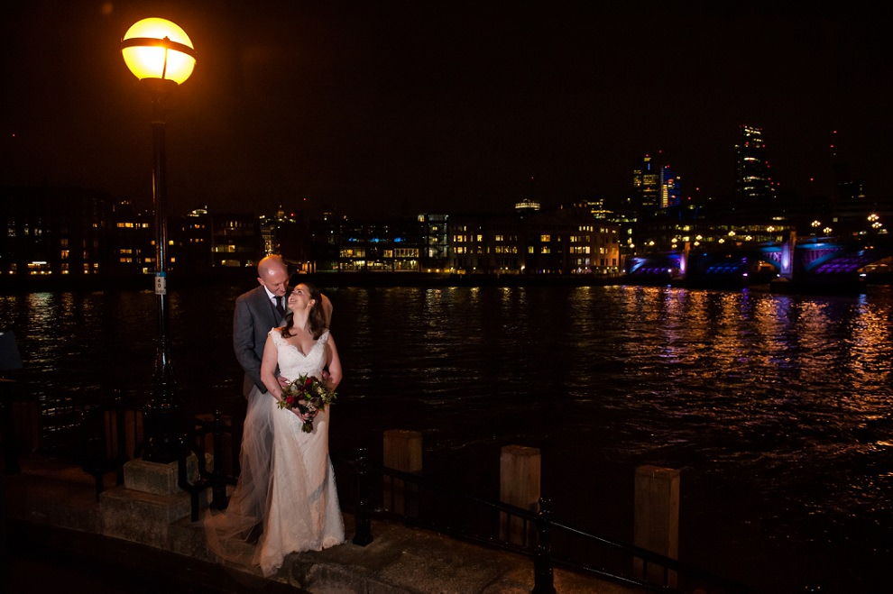 Thames wedding photo London wedding
