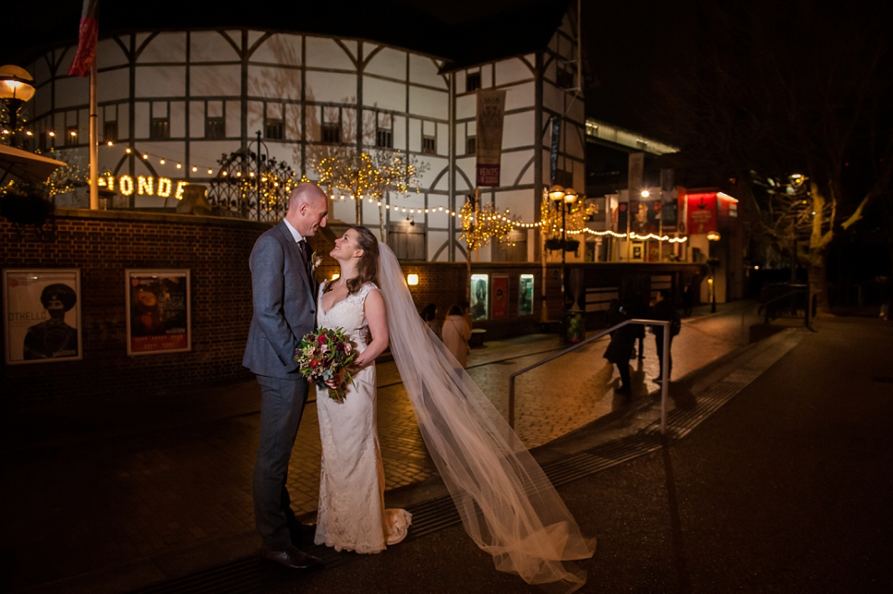 Wedding at Shakespeare's Globe