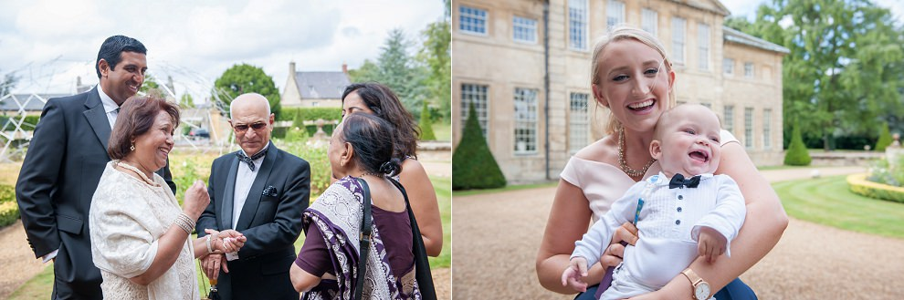 reportage photos of wedding guests at Aynhoe Park