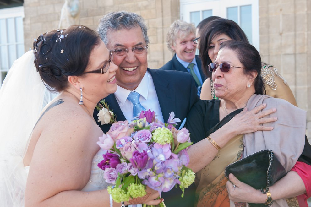 Emotional wedding family photos