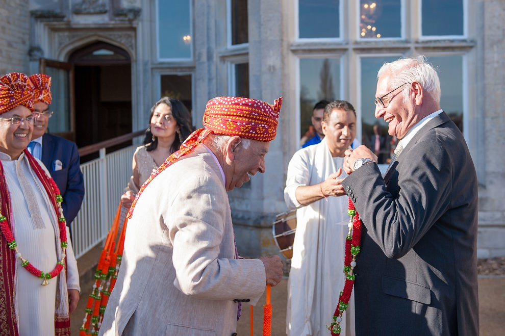 Garland Exchange at Hindu wedding