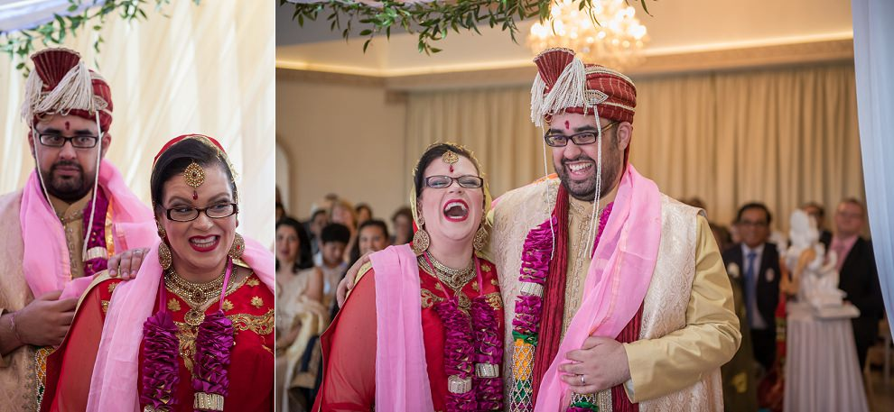 Laughing at a Hindu wedding ceremony