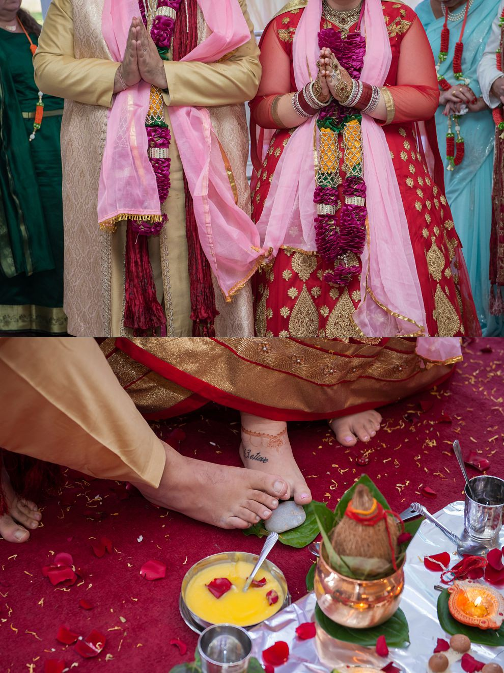 Hands and feet at a Hindu wedding
