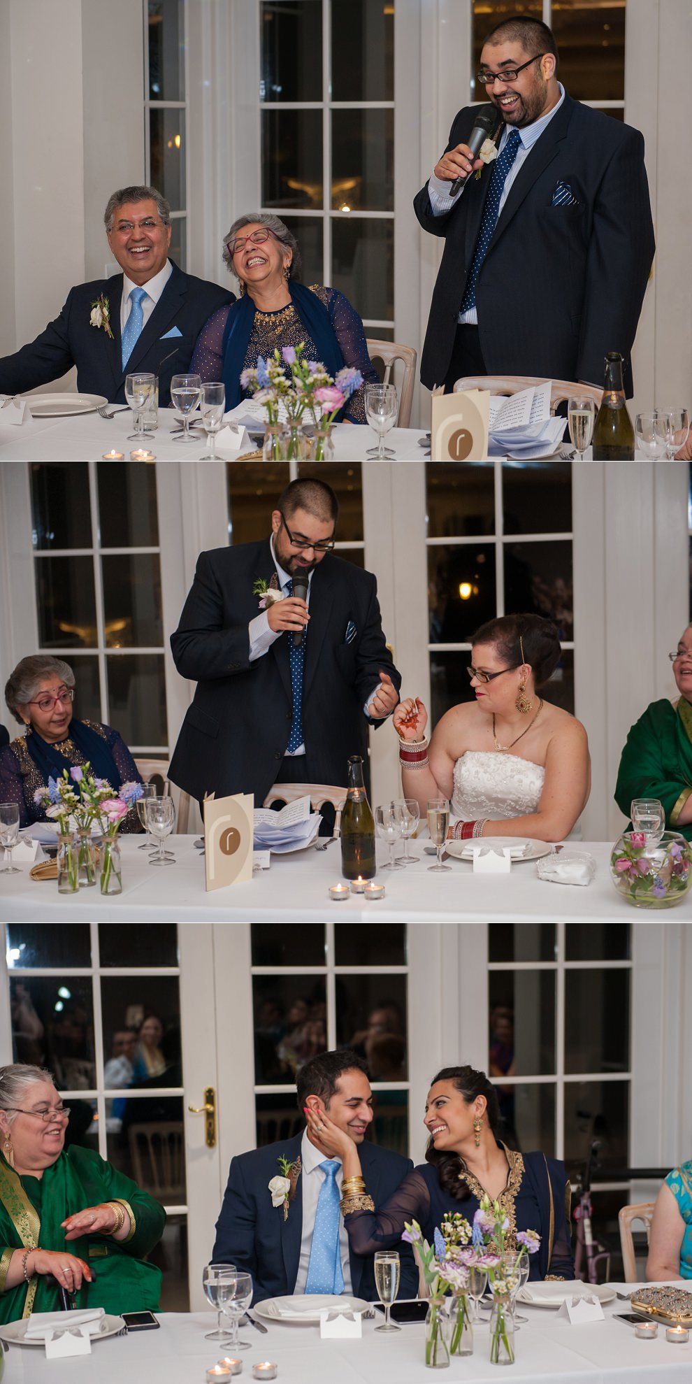 emotional wedding speeches at Froyle Park wedding venue