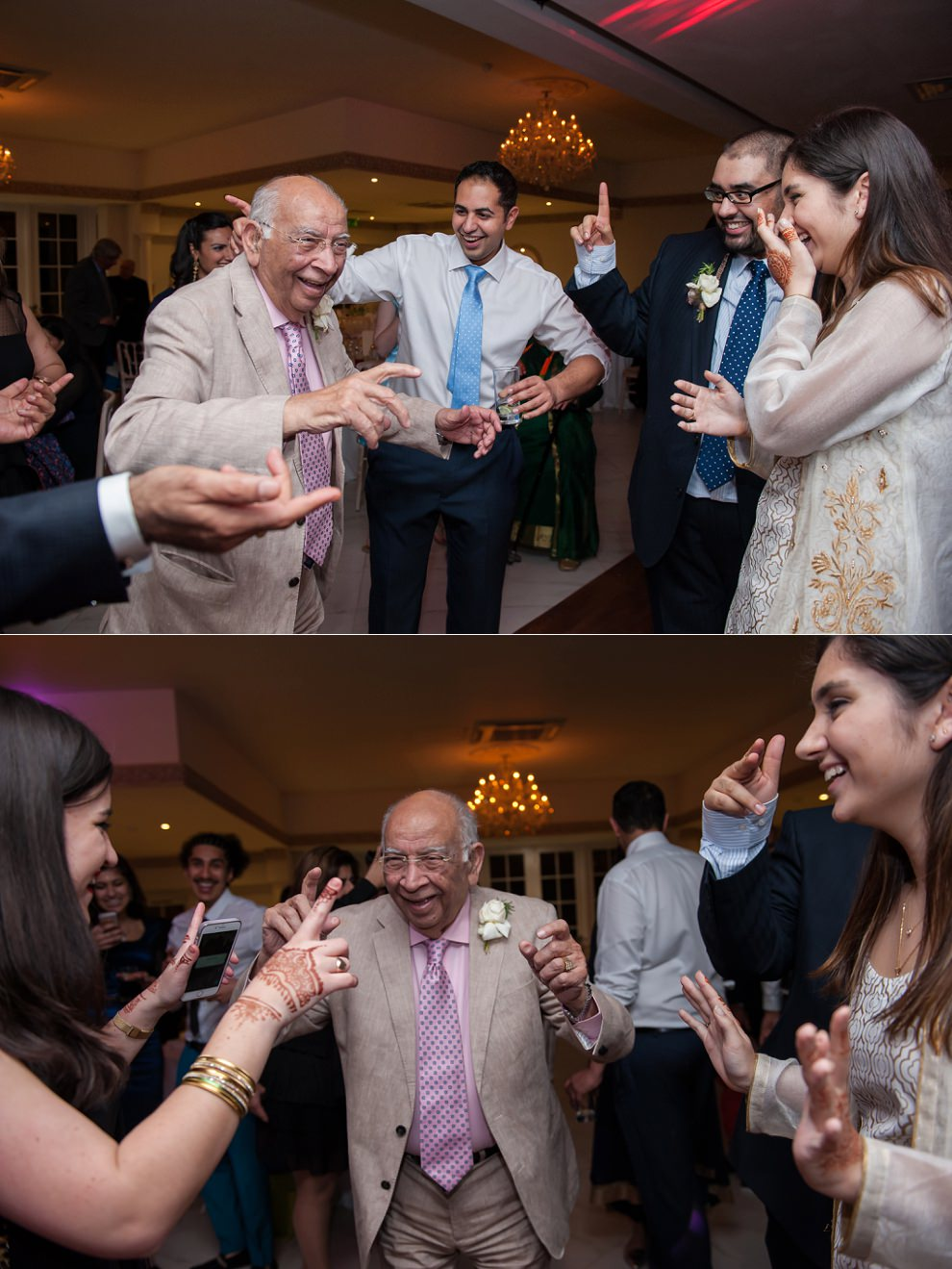 Grandad dancing at wedding