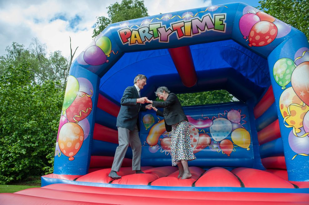 Smallfield Place Wedding venue Surrey - bouncy castle