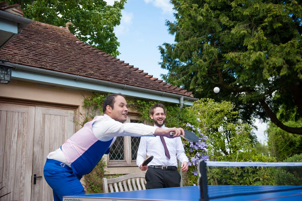 Fun wedding photographer London - ping pong