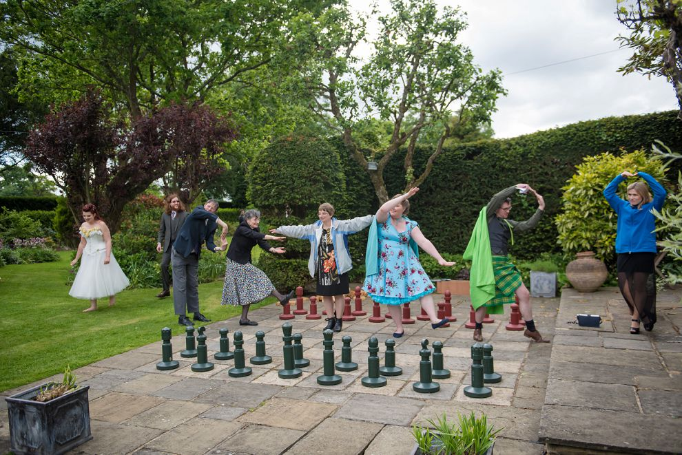 Quirky wedding photography at Smallfield Place