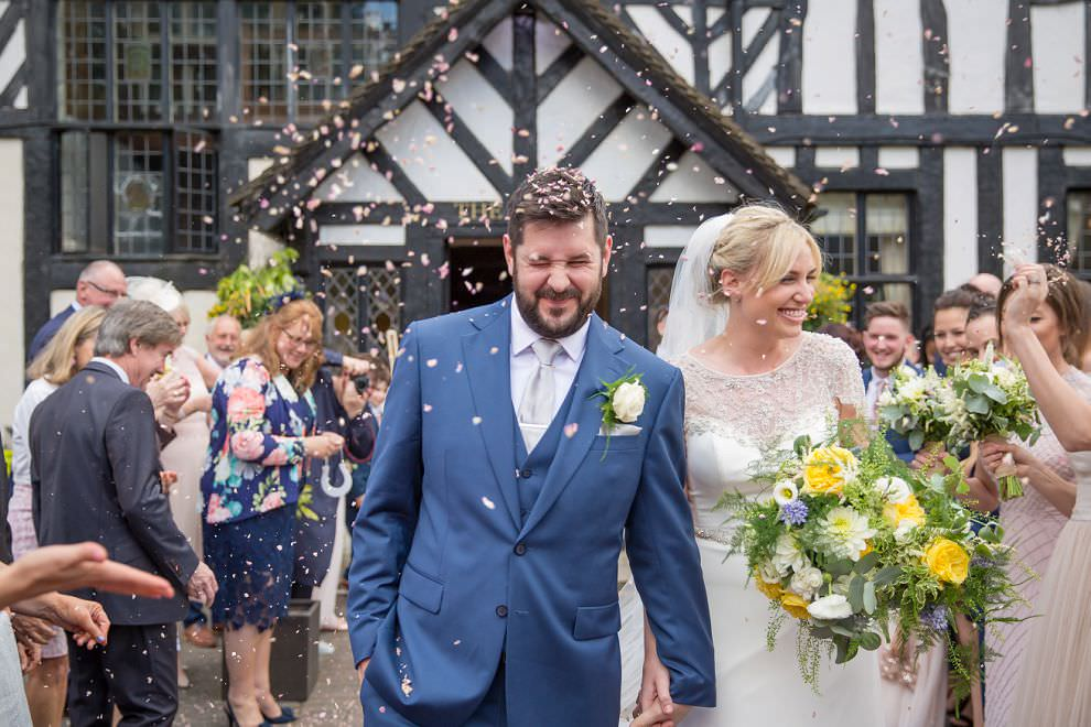 Confetti at Laura Ashley hotel wedding