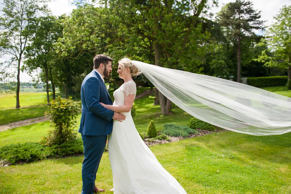 London wedding photographer - Laura Ashley Hotel wedding Flying veil