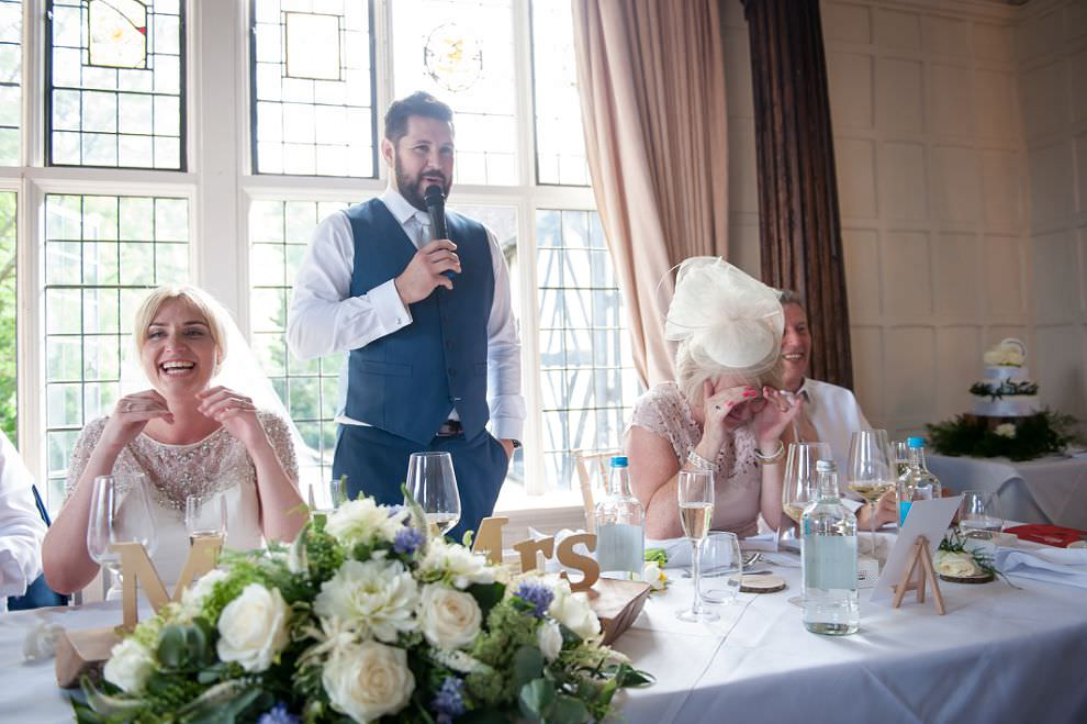 Groom wedding speech at Laura Ashley hotel