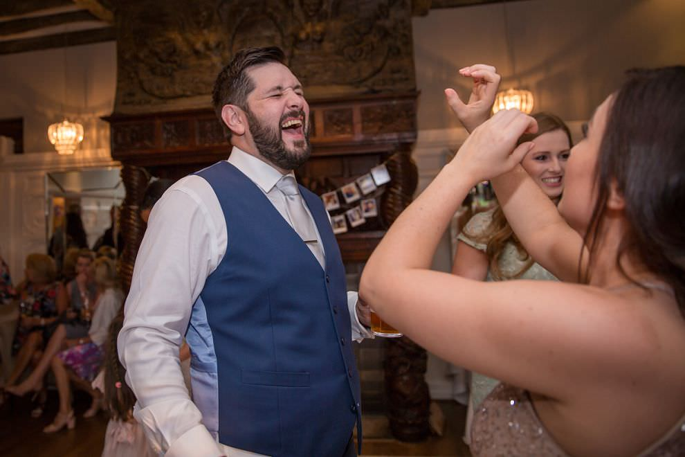 Fun dancing at wedding - hertfordshire wedding photography