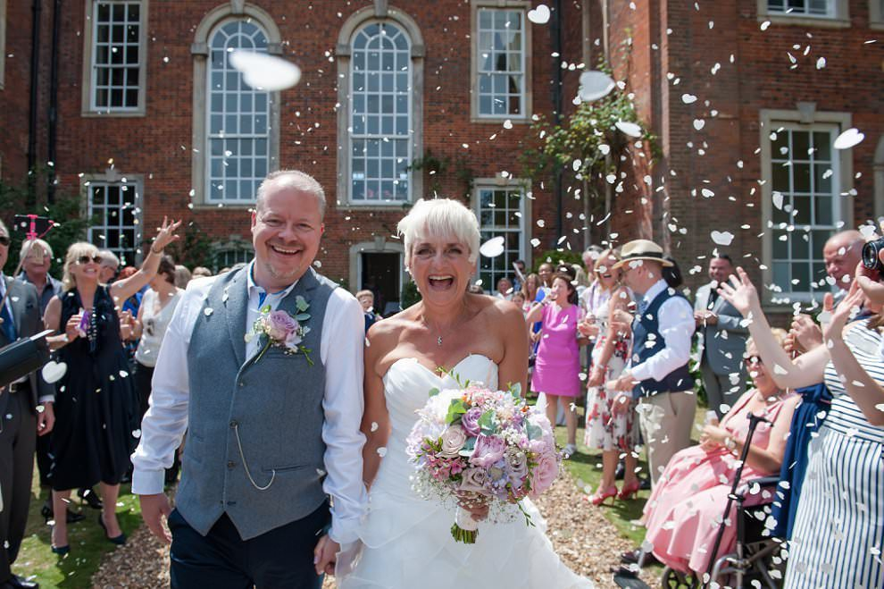 Amazing confetti at Chicheley Hall wedding