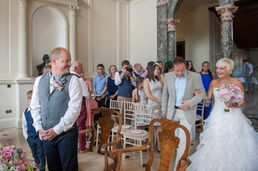 Wedding ceremony at Chicheley Hall