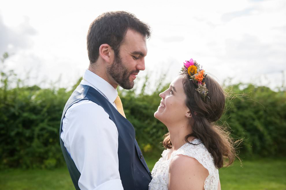 Dorset wedding Photographer | Bride flower crown