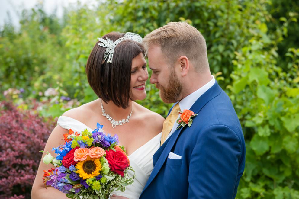 Rainbow bouquet wedding