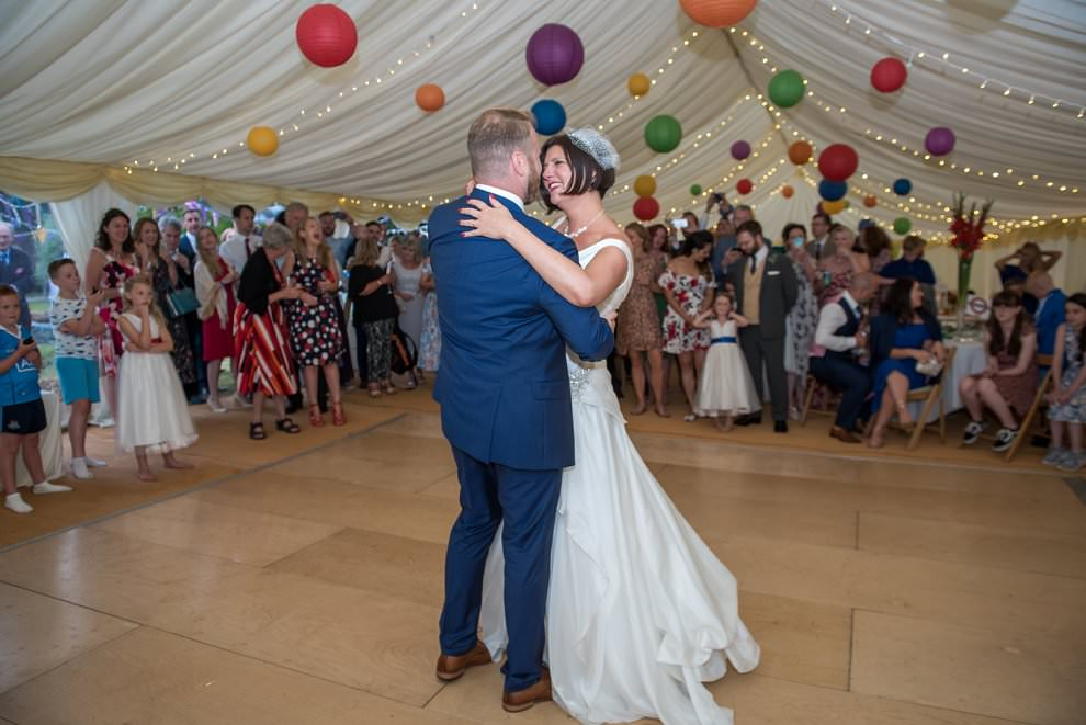 Garden marquee first dance wedding