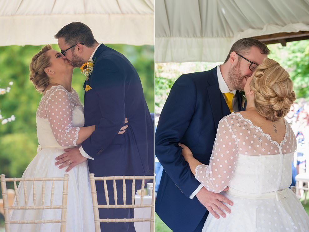 wedding first kiss | London wedding photographer