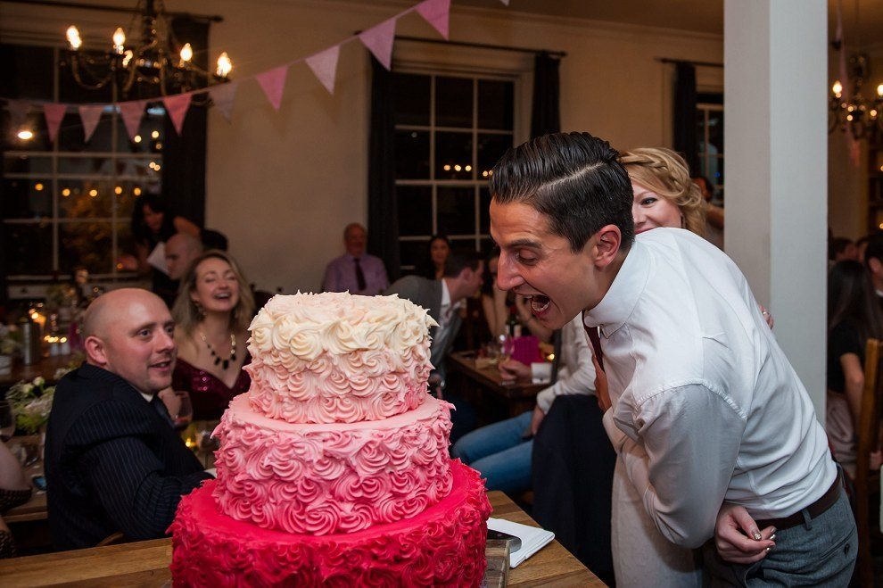 Cake cutting wedding | Fun wedding photography Prince Albert Camden
